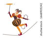 Female Circus Artist Character...