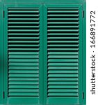 Window With Green Shutters....