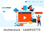 vector illustration of video...
