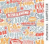 lettering seamless pattern... | Shutterstock .eps vector #1668951118