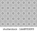 islamic seamless geometric... | Shutterstock .eps vector #1668953095