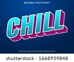 chill text effect template with ...   Shutterstock .eps vector #1668959848