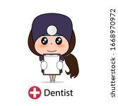 dentist  cartoon character...   Shutterstock .eps vector #1668970972