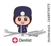 dentist  cartoon character...   Shutterstock .eps vector #1668970975