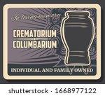 crematorium and columbarium...   Shutterstock .eps vector #1668977122