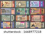 travel tickets for germany... | Shutterstock .eps vector #1668977218