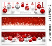 collection of christmas banners | Shutterstock .eps vector #166898042