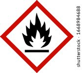 fire hazard sign isolated on... | Shutterstock .eps vector #1668984688