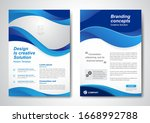brochure business template for... | Shutterstock .eps vector #1668992788