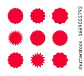 red sale stickers set isolated...   Shutterstock .eps vector #1669033792