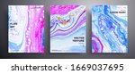 abstract liquid banner  fluid...   Shutterstock .eps vector #1669037695