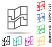 map multi color style icon....