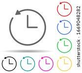 clock and circular arrow multi...