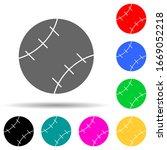 baseball multi color style icon....