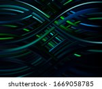 abstract 3d background with... | Shutterstock .eps vector #1669058785