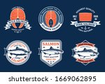 vector salmon white and orange... | Shutterstock .eps vector #1669062895