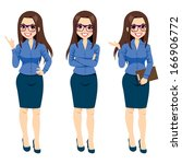 three different full body... | Shutterstock .eps vector #166906772