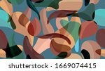 abstract pattern. floral... | Shutterstock .eps vector #1669074415