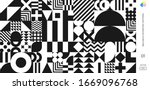 abstract bauhaus pattern vector ... | Shutterstock .eps vector #1669096768
