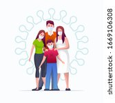 family is protecting their... | Shutterstock .eps vector #1669106308
