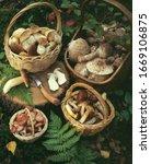 Several Baskets Of Freshly...