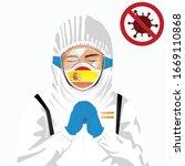 covid 19 or coronavirus concept.... | Shutterstock .eps vector #1669110868