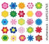set of flat flower icons in...   Shutterstock .eps vector #1669114765