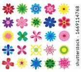 set of flat flower icons in...   Shutterstock .eps vector #1669114768