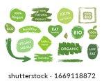 hand drawn vegan food labels...   Shutterstock .eps vector #1669118872