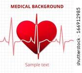 heart cardiogram card. medical... | Shutterstock .eps vector #166912985