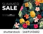 dark vector summer design with... | Shutterstock .eps vector #1669143682