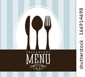 menu design over lineal ... | Shutterstock .eps vector #166914698