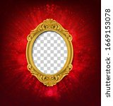 glow vintage picture frame on... | Shutterstock .eps vector #1669153078