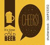 beer design over lineal... | Shutterstock .eps vector #166915352
