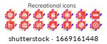 recreational icon set. 14... | Shutterstock .eps vector #1669161448