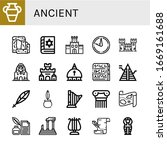 Ancient Simple Icons Set....