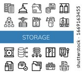 set of storage icons. such as... | Shutterstock .eps vector #1669163455
