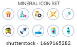 mineral icon set. 10 flat... | Shutterstock .eps vector #1669165282