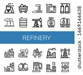 set of refinery icons. such as... | Shutterstock .eps vector #1669166638