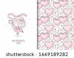 little baby ballerina character ...   Shutterstock .eps vector #1669189282