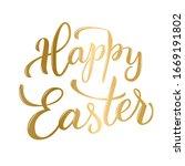 original hand lettering  happy...   Shutterstock . vector #1669191802