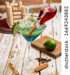 exotic drinks  exotic cocktails ... | Shutterstock . vector #1669243882