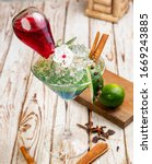 exotic drinks  exotic cocktails ... | Shutterstock . vector #1669243885