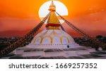 View Of Bodhnath Stupa  One...
