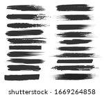 smudge brushstrokes. black... | Shutterstock .eps vector #1669264858
