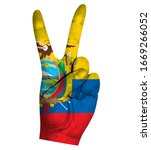 victory finger gesture with...   Shutterstock .eps vector #1669266052