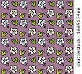 abstract flower pattern. | Shutterstock .eps vector #166927466