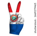 victory finger gesture with...   Shutterstock .eps vector #1669279465