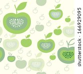 seamless pattern with green... | Shutterstock .eps vector #166929095