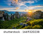 Sunset Over Monastery Of...